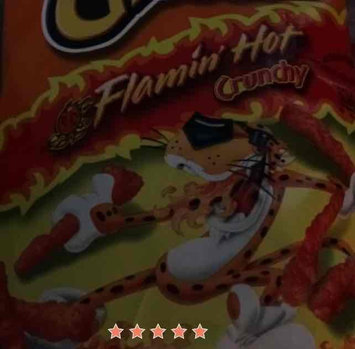 Cheetos Flamin' Hot Crunchy Cheese Flavored Snacks uploaded by no n.