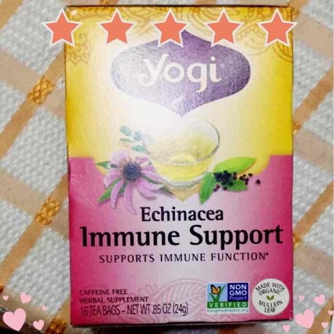 Yogi Tea's Yogi Echinacea Immune Support Herbal Tea Bags, 16 count, .85 oz, (Pack of 6) uploaded by Katherine C.