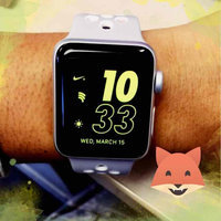 Apple Watch Series 2 38mm Silver Aluminum Case with White Sport Band, Blue uploaded by Ana R.