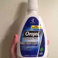 Orajel Mouth Sores Mint Antiseptic Rinse uploaded by Christina R.