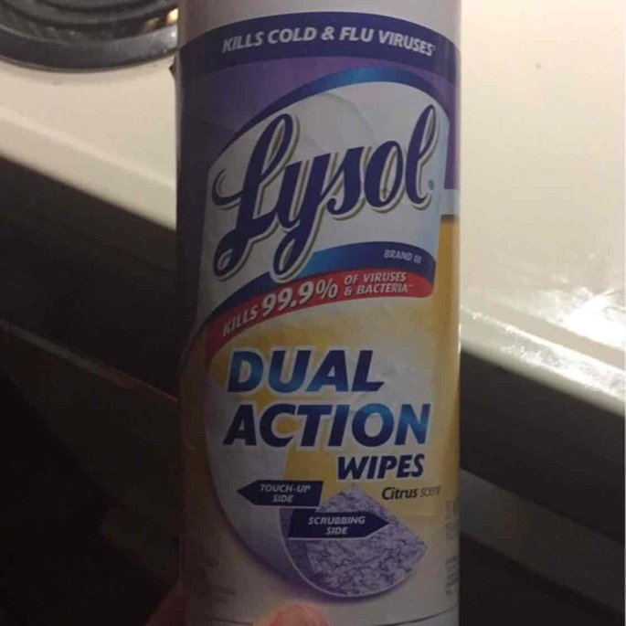 Lysol Dual Action Disinfecting Wipes uploaded by Melissa J.
