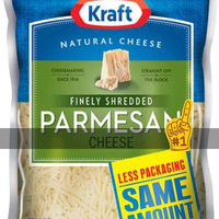 Kraft Natural Cheese Parmesan Shredded Cheese 6 Oz Peg uploaded by Julie R.