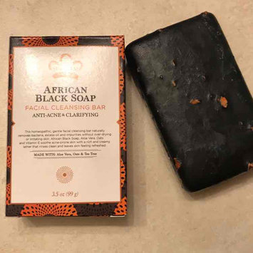 Photo of Nubian Heritage African Black Soap With Shea Butter Oats & Aloe Deep Cleansing 5 Oz (Pack of 3) uploaded by Brittany S.