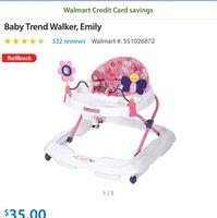 Baby Trend Walker, Emily uploaded by Jannelle G.