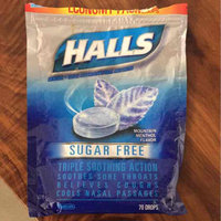 Halls Sugar Free Mountain Menthol Flavor Menthol Cough Suppressant/Oral Anesthetic Drops 70 ct Bag uploaded by Amy L.
