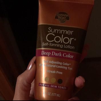 Photo of Banana Boat® Summer Color® Deep Dark Color Self-Tanning Lotion 6 fl. oz. Tube uploaded by Kayla H.