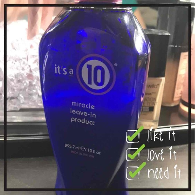 It's a 10 Miracle Leave In Conditioner uploaded by Alma G.