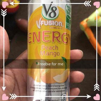 Photo of V8® V-Fusion + Energy Peach Mango Flavored Vegetable & Fruit Juice uploaded by Jo-Vonne L.