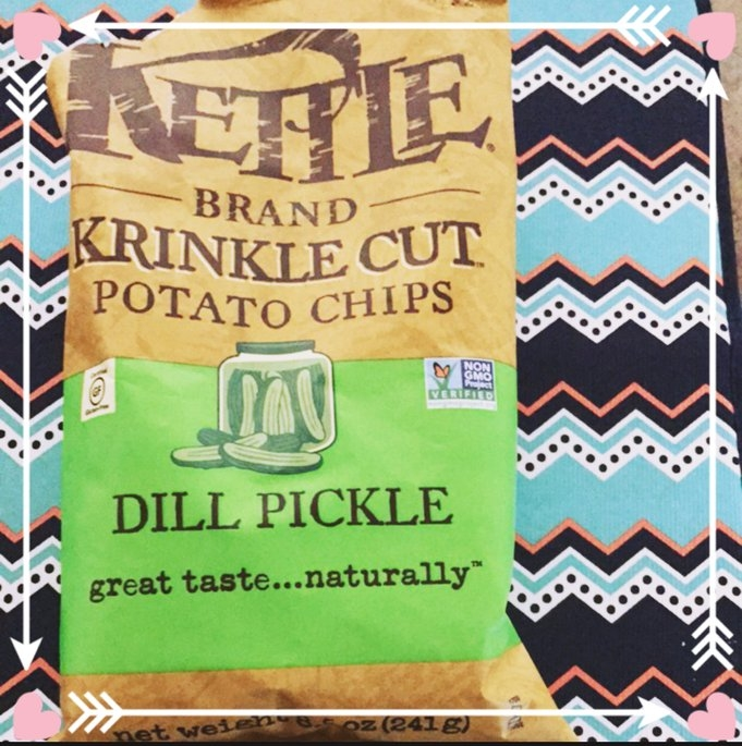 Kettle Brand® Krinkle Cut™ Dill Pickle Potato Chips 8.5 oz. Bag uploaded by Kim G.