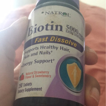Photo of Biotin Natrol  Fast Dissolve Cherry Flavored Supplement 1 uploaded by Stephanie G.