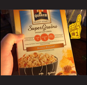 Quaker® Select Starts Super Grains Honey Almond Instant Hot Cereal 6-1.97 oz. Pouches uploaded by Joanne C.