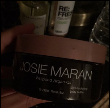 Photo of Josie Maran Whipped Argan Oil Illuminizing Body Butter Soft Pink Radiance + Vanilla Fig Scent uploaded by Katie N.