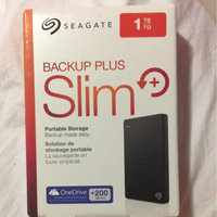 Seagate Backup Plus 1TB Slim Portable External Hard Drive, Black uploaded by O V.