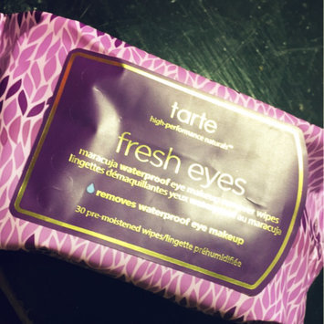 Photo of tarte Fresh Eyes Maracuja Waterproof Eye Makeup Remover Wipes uploaded by Janelle J.