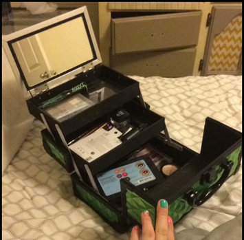 Photo of Shany Cosmetics Premium Collection Purple Diamond Makeup Train Case uploaded by Shelby Y.