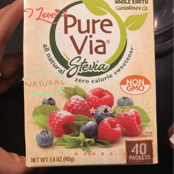 Photo of Pure Via Stevia Zero Calorie Sweetener - 40 CT uploaded by Sophia A.