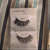 6 Pairs Crème 100% Human Hair Natural False Eyelash Extensions Black #415 Natural Long Lashes uploaded by Yareli S.