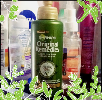 Photo of Garnier Whole Blends™ Replenishing Leave-in Conditioner with Virgin Pressed Olive Oil & Olive Leaf Extracts uploaded by Samah T.