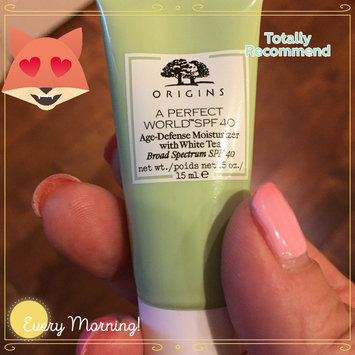 Photo of Origins A Perfect World SPF 25 Age-Defense Moisturizer with White Tea uploaded by Kelli C.