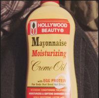Hollywood Beauty Mayonnaise Moisturizing Cream Oil with Egg Protein, 12 oz uploaded by Chrystal G.