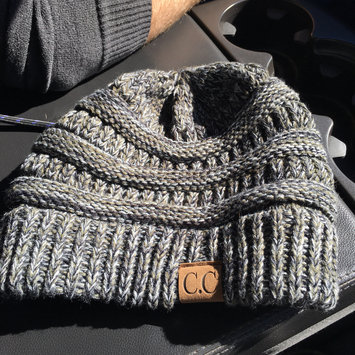 Photo of ScarvesMe CC Solid Ribbed Beanie with Fur PomPom [] uploaded by Evelyn W.