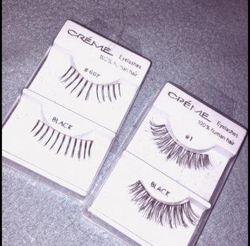 Photo of 6 Pairs Crème 100% Human Hair Natural False Eyelash Extensions Black #20 Dark Full Lashes uploaded by Liceny Z.