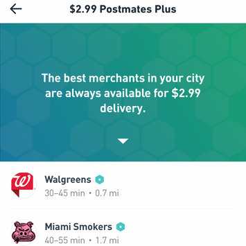 Postmates uploaded by Andrea P.