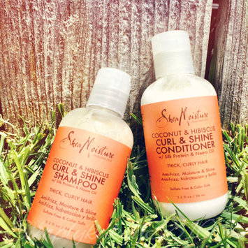 Photo of SheaMoisture Coconut & Hibiscus Curl & Shine Shampoo uploaded by crystal e.