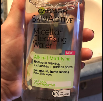 Garnier Skin Skinactive Micellar Cleansing Water All-In-1 Cleanser and Waterproof Makeup Remover uploaded by Stacie N.