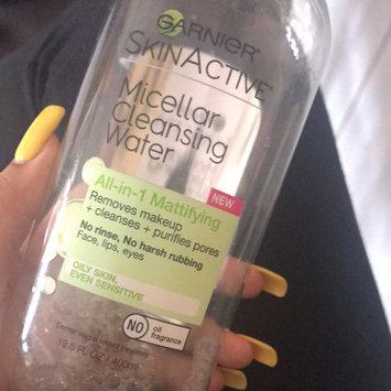 Garnier Skin Skinactive Micellar Cleansing Water All-In-1 Cleanser and Waterproof Makeup Remover uploaded by Alissa T.