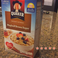 Quaker Instant Oatmeal Maple & Brown Sugar - 10 CT uploaded by Kia W.