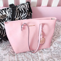 Michael Kors Mae Large Leather Tote, Pink uploaded by Lyndsey D.