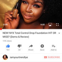 NYX Total Control Drop Foundation uploaded by Tytiyanna M.