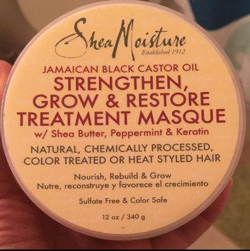 Photo of SheaMoisture Jamaican Black Castor Oil Strengthen, Grow & Restore Treatment Masque w/ Shea Butter, Peppermint & Keratin uploaded by Susan M.