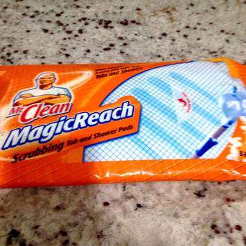 Photo of Authentic Mr. Clean Magic Reach Scrubbing Tub & Shower Pads ,One package of 8 refill pads.ORIGINAL RESEALABLE PLASTIC PACKAGING. uploaded by Nka k.