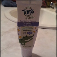 Tom's of Maine Toddler's Fluoride-Free Natural Toothpaste, Mild Fruit, 1.75 oz uploaded by Ryane C.