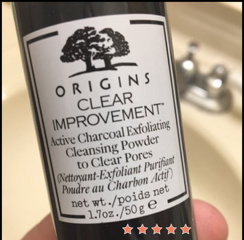 Origins Clear Improvement Active Charcoal Exfoliating Cleansing Powder to Clear Pores uploaded by Lilliana G.
