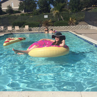 Big Mouth Toys BigMouth Inc Gigantic Donut Pool Float (Strawberry Frosted with Sprinkles) uploaded by Maya C.