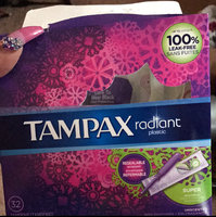 Tampax Radiant Plastic Regular Absorbency Tampons uploaded by Summer D.