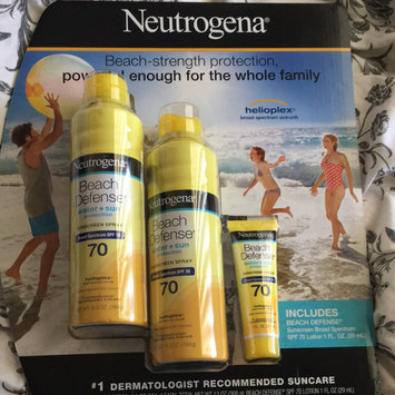 Photo of Neutrogena® Beach Defense® Water + Sun Protection Sunscreen Spray Broad Spectrum SPF 70 uploaded by Tiffany C.