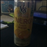 V8® V-Fusion + Energy Peach Mango Flavored Vegetable & Fruit Juice uploaded by Laura B.
