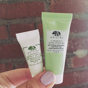 Photo of Origins A Perfect World SPF 25 Age-Defense Moisturizer with White Tea uploaded by Carly W.