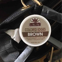 OKAY Colored Edges Temporary Gray Touch Up, Brown 0.5oz uploaded by Latanya C.