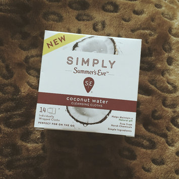 Photo of Simply Summer's Eve Coconut Water Feminine Wipe - 14ct, None - Dnu uploaded by april n.