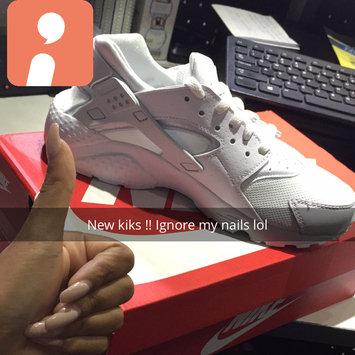 Photo of Nike Air Huarache 'Triple White' uploaded by fatima carolina t.