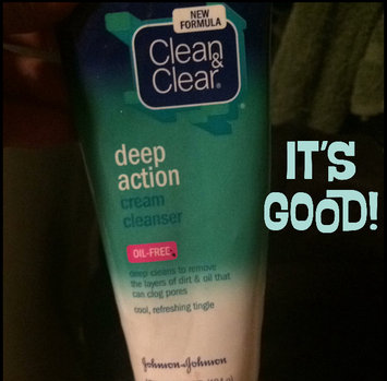 Photo of Clean & Clear® Deep Action Cream Cleanser uploaded by Kiana M.