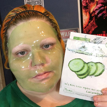 Photo of Cre8skin - Its Real Color Cucumber Hydrogel Mask 1pc 30g uploaded by April C.