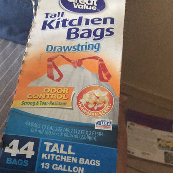 Photo of Great Value Drawstring Tall Kitchen Garbage Bags, 13 gal, 44 count uploaded by Melissa D.