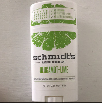 Photo of Schmidt's Bergamot + Lime Natural Deodorant uploaded by Erin B.