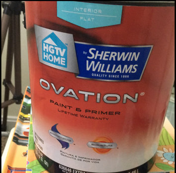HGTV HOME by Sherwin-Williams Ovation Interior Flat Tintable White Latex-Base Paint and Primer in One (Actual Net Contents: 124-fl oz) OV0020001-16 uploaded by Megan C.